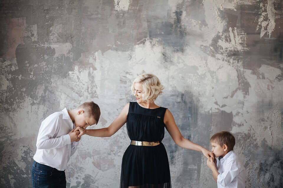 Катерина Пилипчук с сыновьями