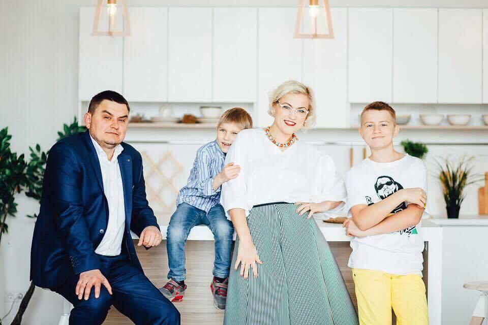 Катерина Пилипчук с семьей