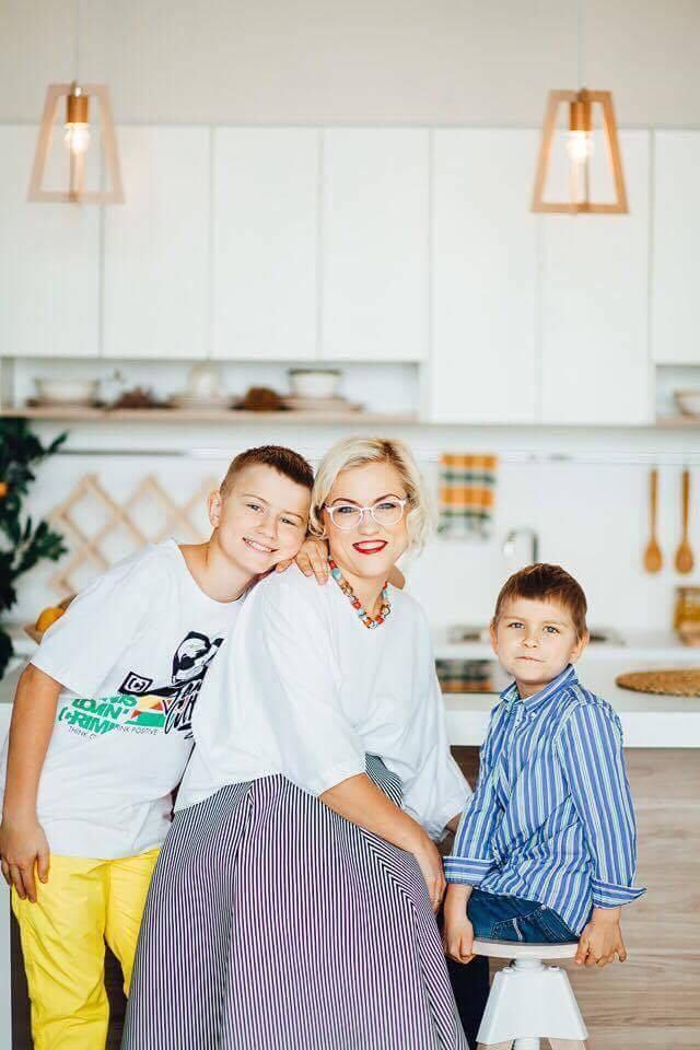 Катерина Пилипчук (Urban Space 500) с сыновьями