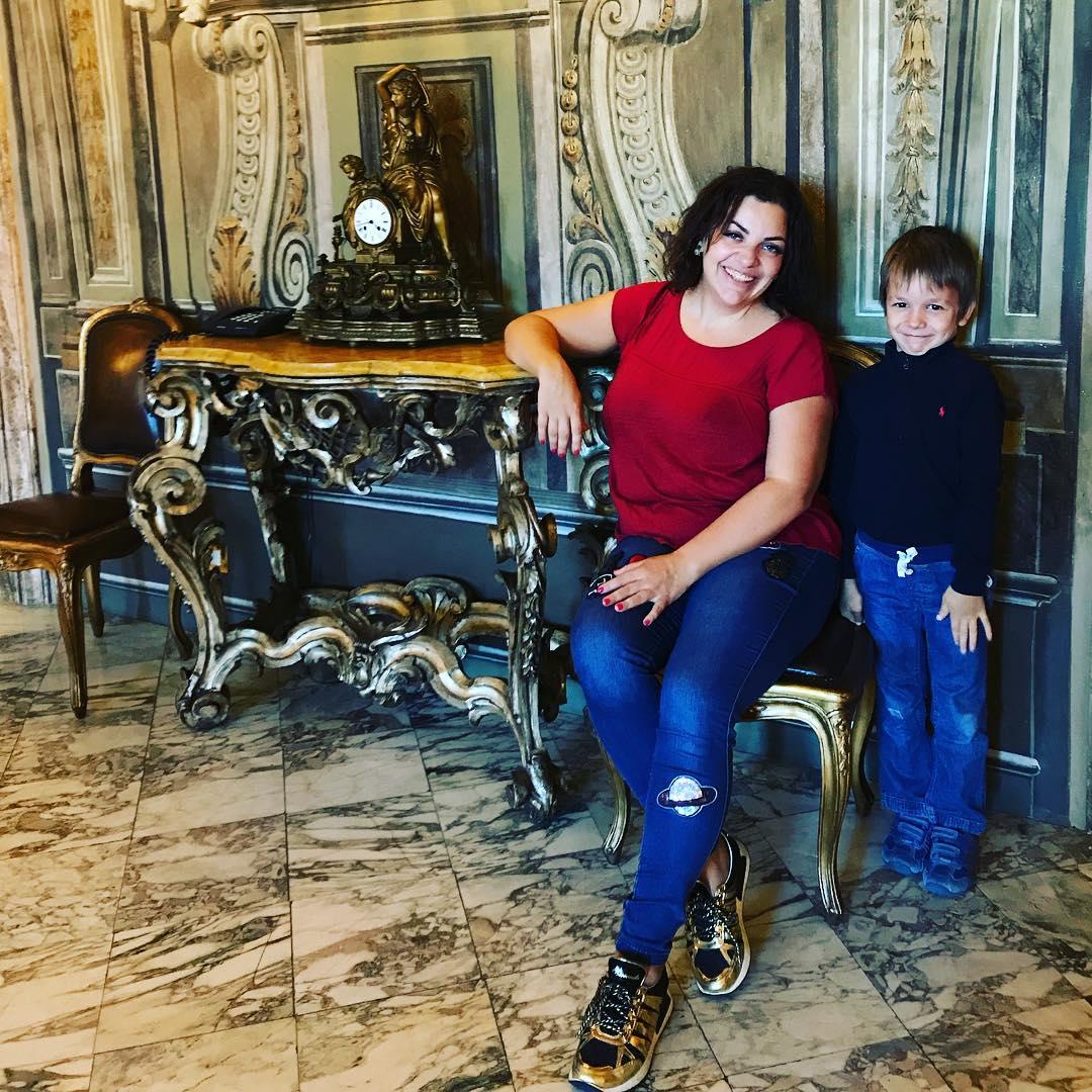 психолог Наталья Холоденко с сыном