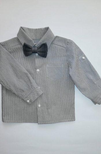 классическая рубашка с бабочкой на годик