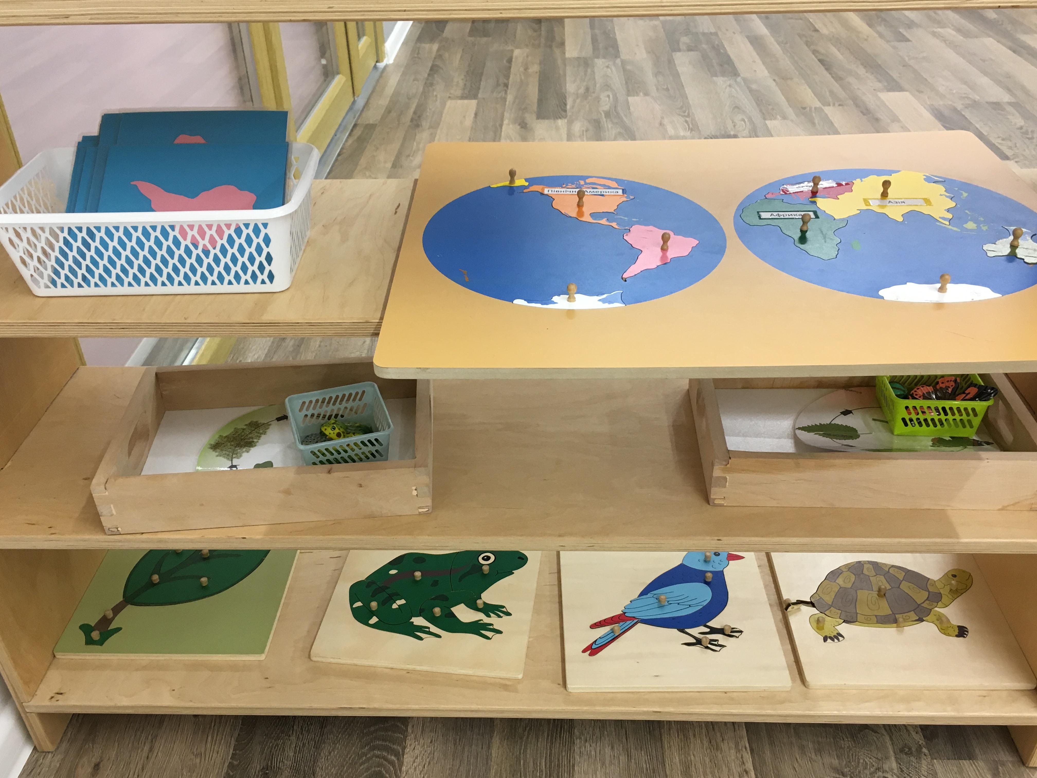 Монтессори-материалы в садике Urban kids